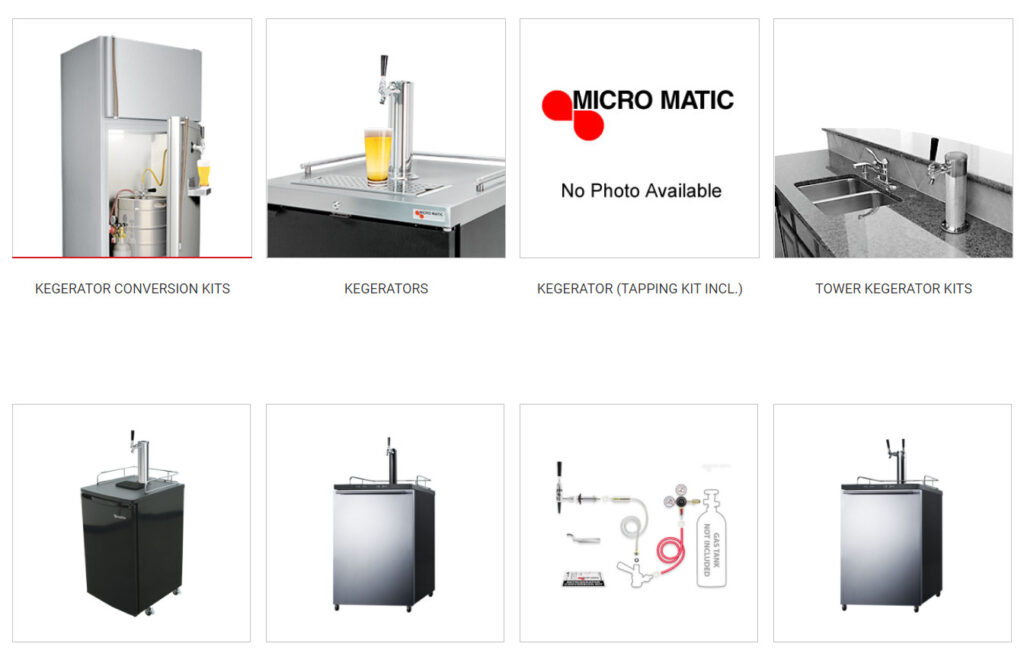Kegerators from micromatic